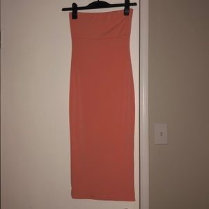 Kittenish tube top maxi dress